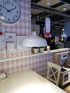 IKEA おしゃれキッチン時計 ペンダント