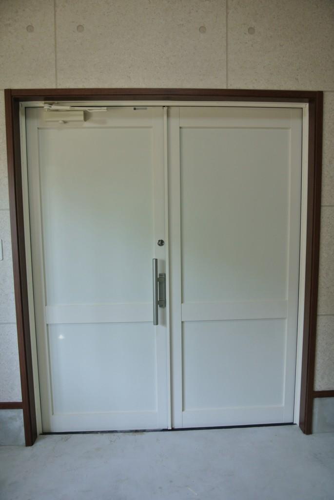 ゼロキューブHYVAの見学会 土間のドア