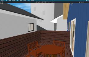マイホームデザイナー新築作り方 バルコニーからの3Dビュー