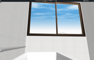 マイホームデザイナー3Dビューお風呂からの眺め