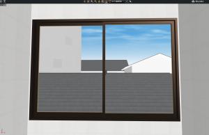 マイホームデザイナー3Dビューお風呂からの眺め2