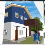 ポーチ屋根が付きました!マイホームデザイナーと見比べる(着工28日目)