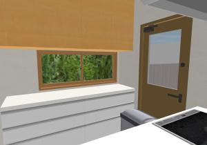 マイホームデザイナー新築作り方 キッチンの3Dビュー