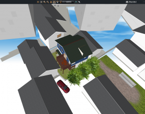 マイホームデザイナー新築作り方鳥瞰図ドローン目線
