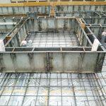 基礎工事6日目 型枠が完成
