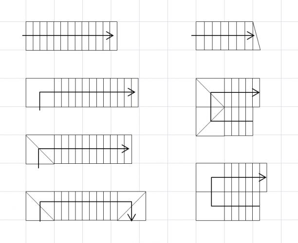 Excel間取り図形の作り方矢印階段