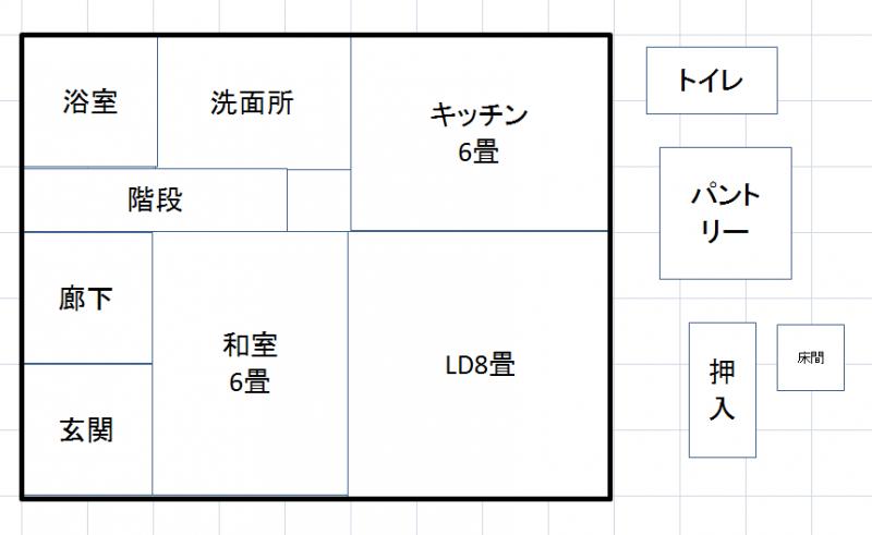 Excel間取り図形の作り方