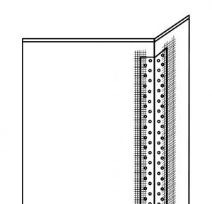 塗り壁DIYコーナー下地寒冷紗(ファイバーテープ)施工イメージ