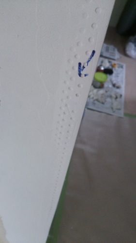 塗り壁DIYパテ塗り欠陥やり直し