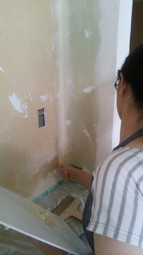 アサヒペン スーパーコート ペンキ塗り壁DIY下地パテ塗り