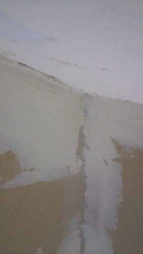 塗り壁DIY天井パテ塗り