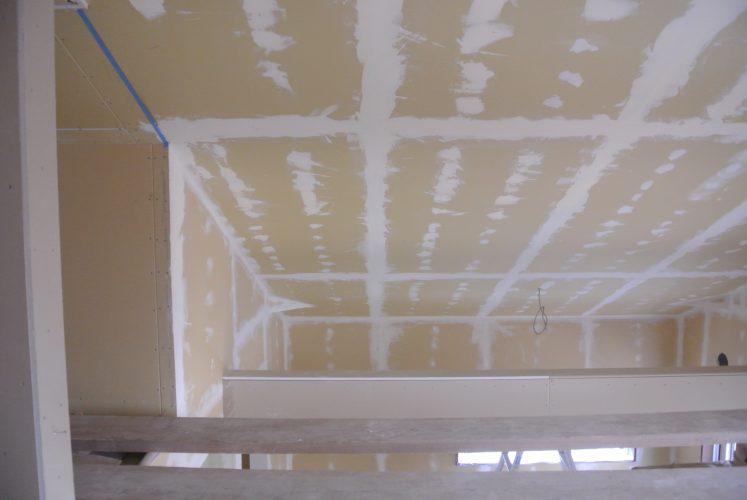 塗り壁DIY下地パテ塗り天井
