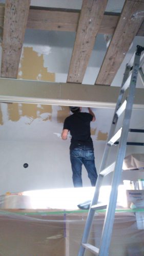 ひとりで塗れるもんDIY傾斜天井塗り