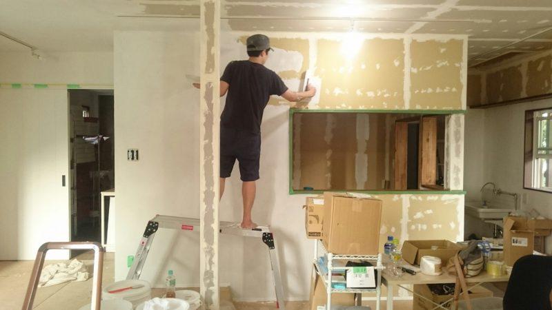 ひとりで塗れるもんDIY ミニキッチン壁