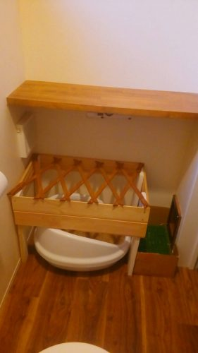 新築キャットドア施工猫トイレ