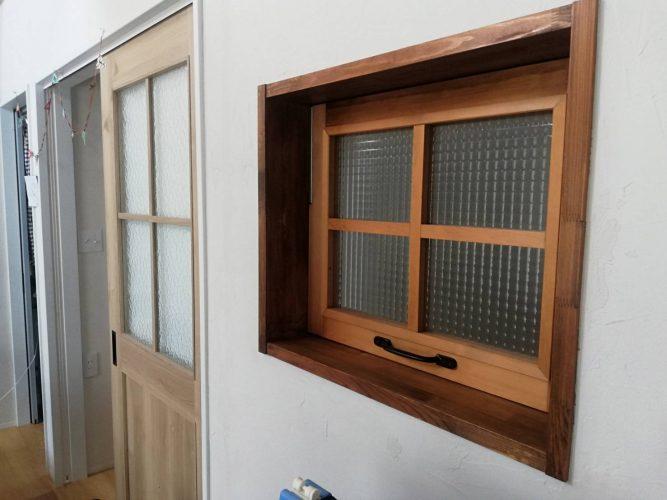 造作窓完成 内側