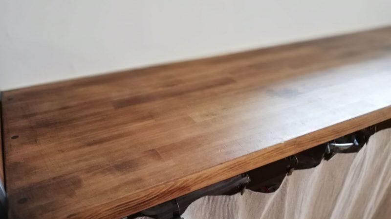 キッチン造作棚ブライワックスジャコビアンDIY施工例