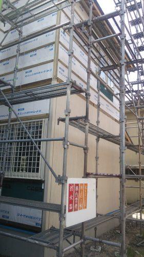 新築 外壁 ニチハ グレアウッド 施工