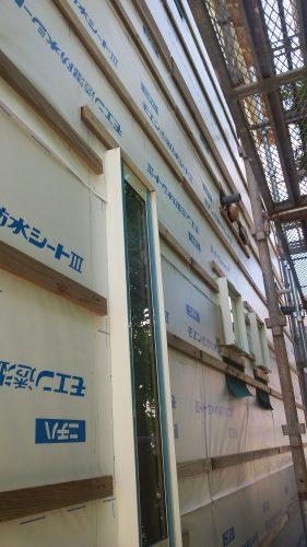 新築外壁工事 胴縁