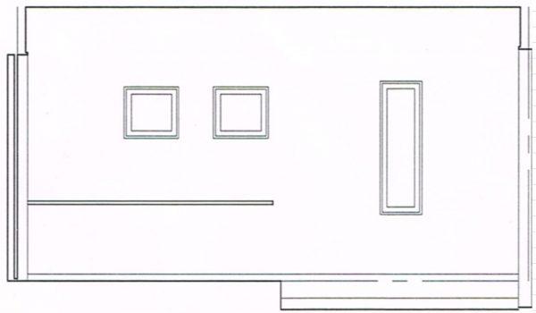 玄関窓立面図