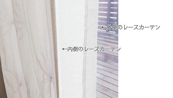 ダブルレースカーテンの仕組み