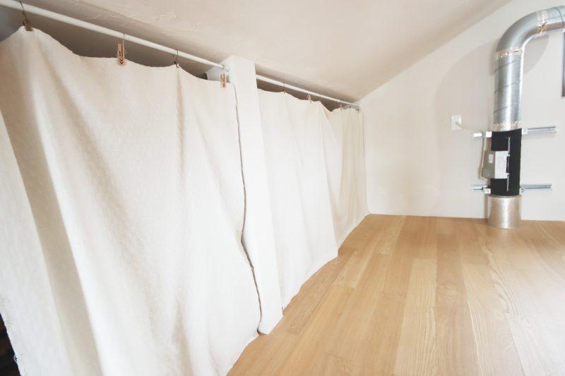 でロフトのカーテンは百均
