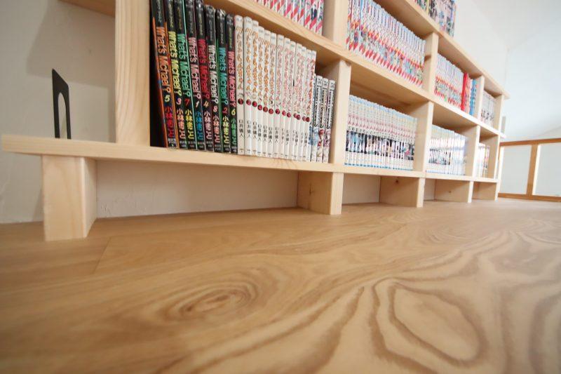 本棚DIY下は10cmほど空けました