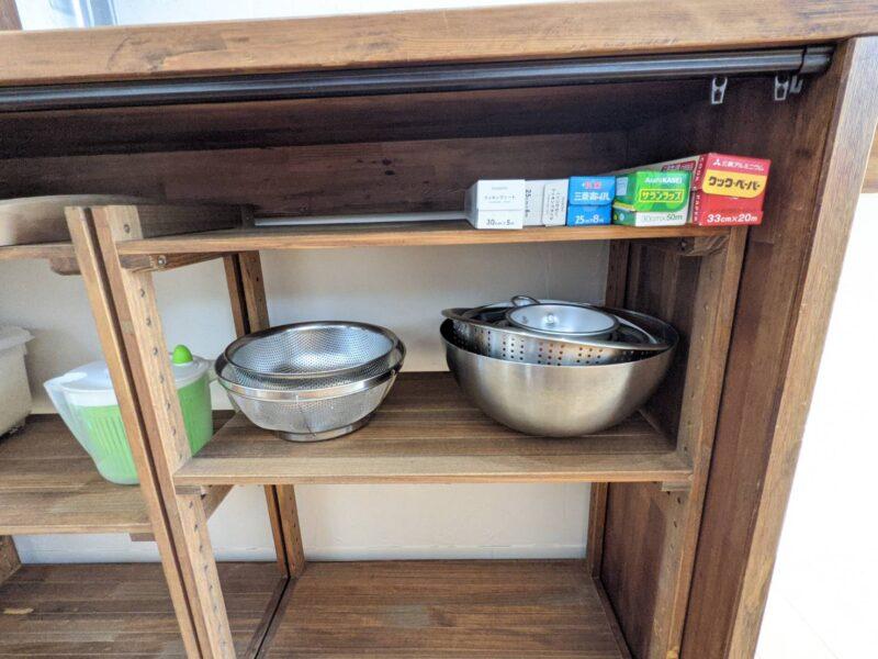 ニトリ ウッドラック 食器棚 レビュー [幅61.5cm]パインラック マンクス6230(2段)