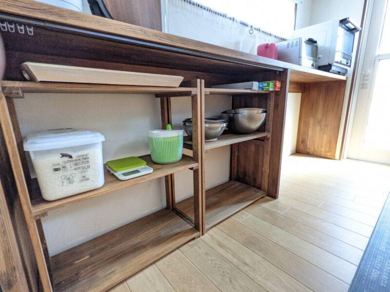 ニトリ ウッドラック 食器棚 使用感 レビュー [幅61.5cm]パインラック マンクス6230(2段)