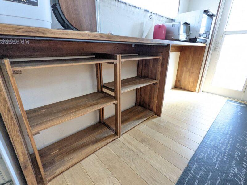 ニトリ ウッドラック 食器棚2個 レビュー [幅61.5cm]パインラック マンクス6230(2段)